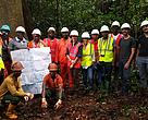 WWF and Rougier staff in the field