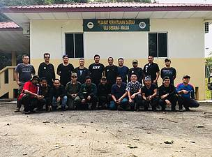 The Ops Jerat team – a collaboration between the Sabah Wildlife Department, the Sabah Forestry Department and WWF-Malaysia., Malaysia, Sabah, Borneo Elephant, Heart of Borneo, HoB