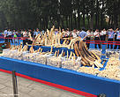 Illegal ivory stockpile destroyed by China.
