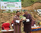 Launching of Tiger action plan by Dasho Benji (left) and Minister for Agriculture and Forests