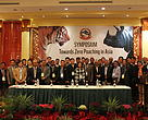 Government Delegates from thirteen tiger range countries who participated on the Zero Poaching Symposium.