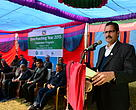 The Chief Guest of the event, Honorable Minister for Forests and Soil Conservation Agni Prasad Sapkota.