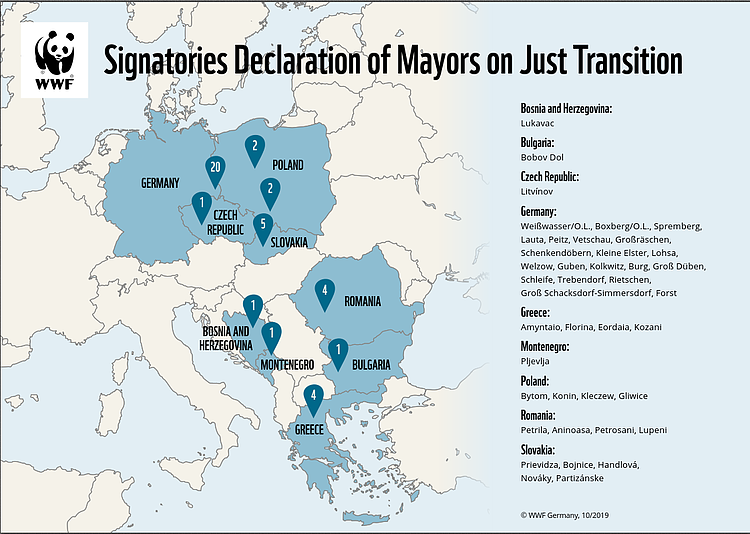 41 European mayors declare support for a just transition from coal
