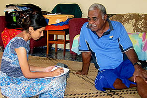 Interview with Semisi Siga, chief of Vadra Vadra village.