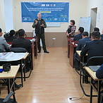 He is an experienced professional who had conducted such type of trainings for the last 16 years.  © WWF Mongolia