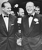 HRH Prince Philipp and HRH Prince Bernhard (right) at the launching of WWF-US in 1962.
