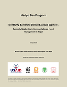 © Identifying Barriers to Dalit and Janajati Women's Successful Leadership in Community Based Forest Management in Nepal