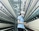 Worker at Vietnam textile factory