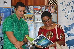 WWF-Pacific's SFS Programme Manager, Duncan Williams part of the PIFS Grantee Open Day.