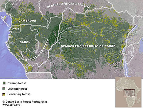 Map Of Africa Congo River.Ecosystems Wwf