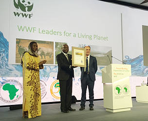 Donald Kaberuka of African Development Bank feted with the WWF Leaders for a Living Planet award