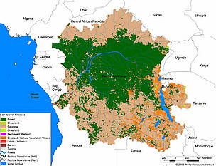 Map Of Africa Congo River.Rivers Of The Green Heart Of Africa Wwf