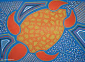 Marine turtles play an important role in Australian Aboriginal culture, and are reflected in both ...      © Karen Puruntatameri