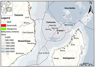 Map of the Northern Mozambique Channel