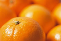 Close up of oranges rel=
