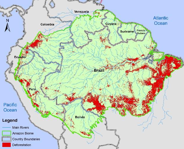 Keeping an eye on deforestationAmazon Rainforest Map Deforestation