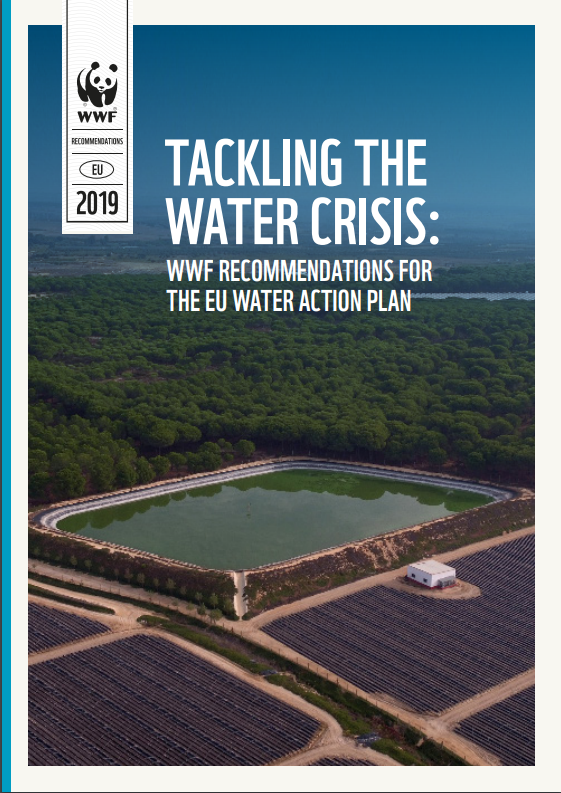 Cover image - Tackling the water crisis: WWF recommendations for the EU Water Action Plan