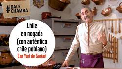 Chile en nogada, con auténtico chile poblano