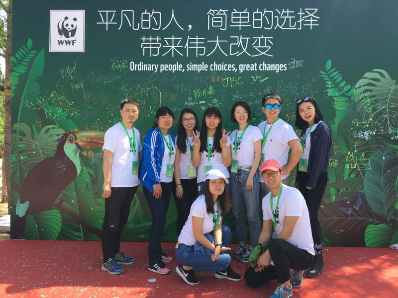 WWF-China staff at the Green Walk, Earth Day 2017.