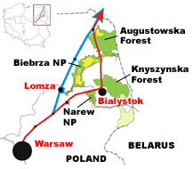 Lomza Poland Map.Expressway Threatens Protected Areas In Poland Wwf