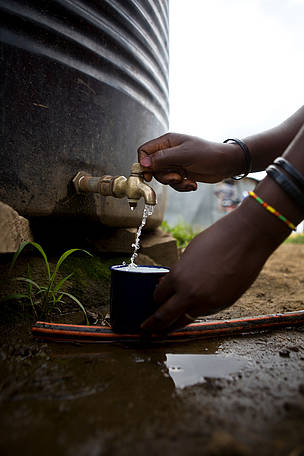 WWF works with farmers in rural Kenya to secure water for their households and their crops.