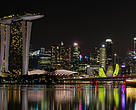 The Singapore city skyline